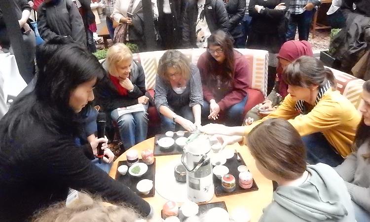 滋賀県の近江茶試飲会