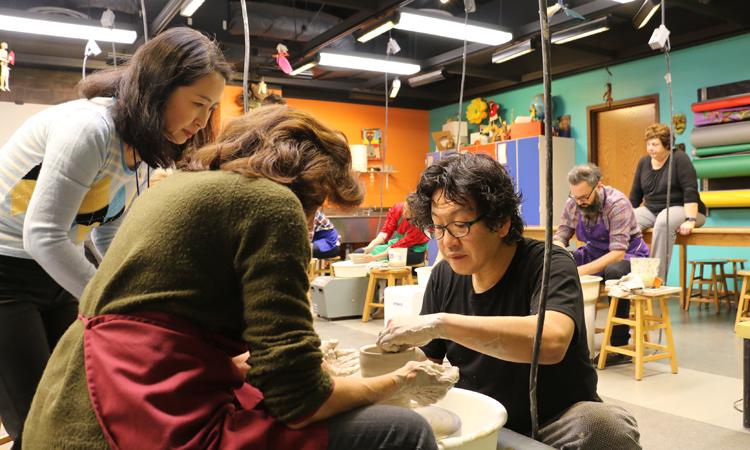 陶芸木下師匠のワークショップ